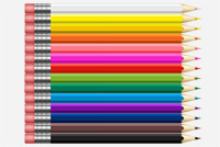 Colorful Pencils PSD's