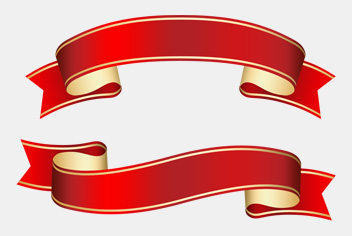 Curled Ribbon PSD File