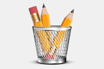 Pencil holder with 3 Sharpened Pencils