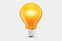Light Bulb &#8211; Glow Lamp PSD File