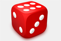 Dice Photoshop Template Icon