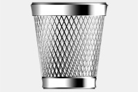 Metallic Trash Can PSD File