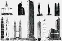 PSD Skyscraper &#8211; Building Photoshop Files