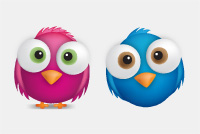 PSD Twitter Birds