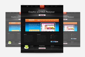 Dark Portfolio PSD Layout