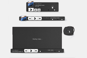 Media Player | UI Photoshop Template