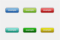 Colorful Web Button PSD