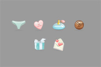 Women Stuff PSD Icons