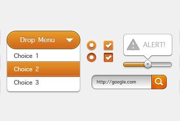 Web Design Elements PSD File