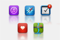 Apple iOS PSD Icons – for iPhone & iPad