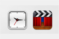Clock & Movie – iPad & iPhone PSD File