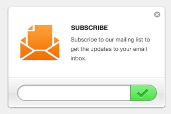 Email Newsletter Subscription Form PSD