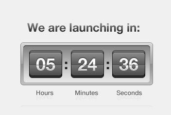 coming soon page countdown psd template