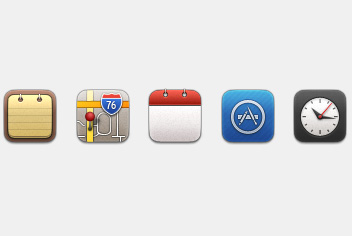 iOS PSD Icons