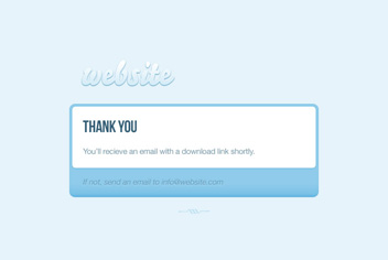 Thank You Page PSD Template