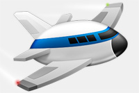 Toy &#8211; Cartoon Airplane PSD Template
