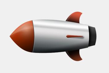 Rocket Photoshop (.psd) File