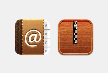 Agenda and Zip Archive PSD Icons