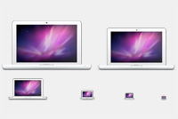 Macbook PSD Icons