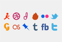 Social Media Photoshop Icons