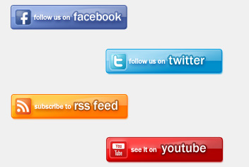 Social Buttons PSD