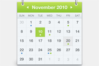 Monthly Calendar PSD File