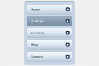 Web Navigation PSD File