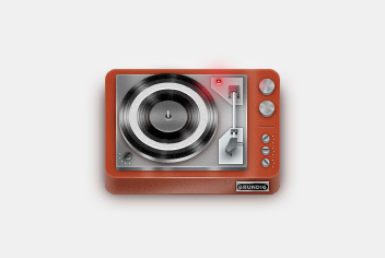 Vinyl Player Photoshop File