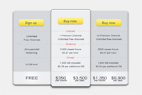 Web Pricing Table Photoshop (psd) File