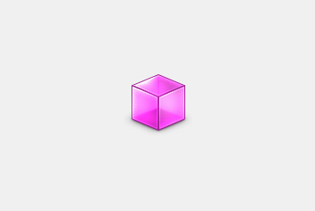 Pink Cube PSD File
