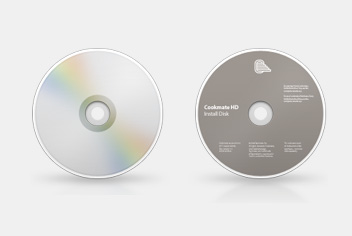 Disc &#8211; CD &#8211; DVD Photoshop Template