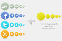 Social Network Icons Photoshop (PSD) File