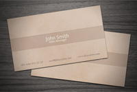 Chocolate/Coffee Business Card PSD Template