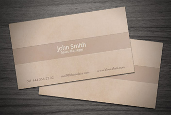 Chocolatecoffee business card psd template wajeb