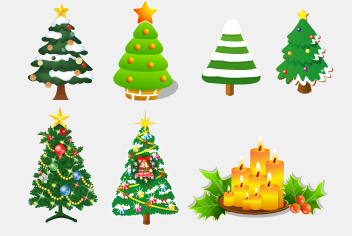 Free Vector and PSD Christmas Tree
