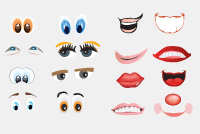 Face Elements (Eyes and mouths) Photoshop Files
