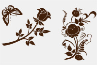 Retro Flowers Photoshop Files