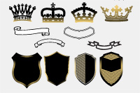 Free PSD and Vector Heraldic Elements