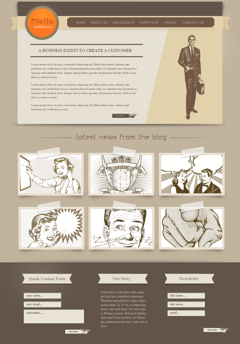 Vintage Photoshop Template