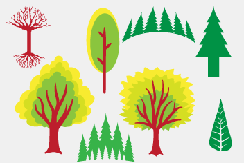 Pine and Vector Tree PSD