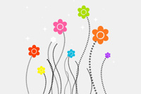 Funky/Colorful Flower PSD
