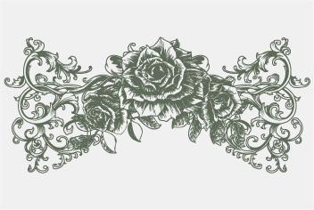 PSD Vintage Flower