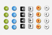 Interface Arrow Buttons PSD Set