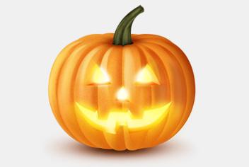 Halloween Pumpkin PSD File