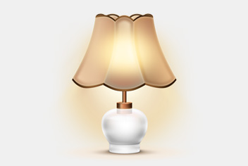 Aged & Classic Lamp PSD FIle