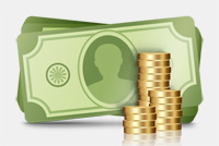 Money – US Dollars and Coins PSD File