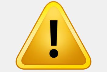 Warning Sign PSD File