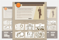 Vintage Photoshop Website Template (PSD)