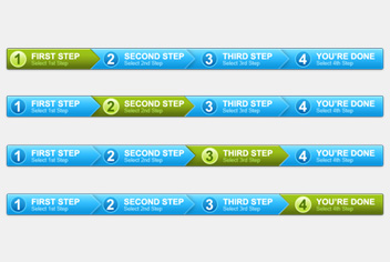 Steps Process Panel Photoshop (.psd) File
