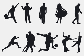 PSD People Silhouettes Photoshop Files